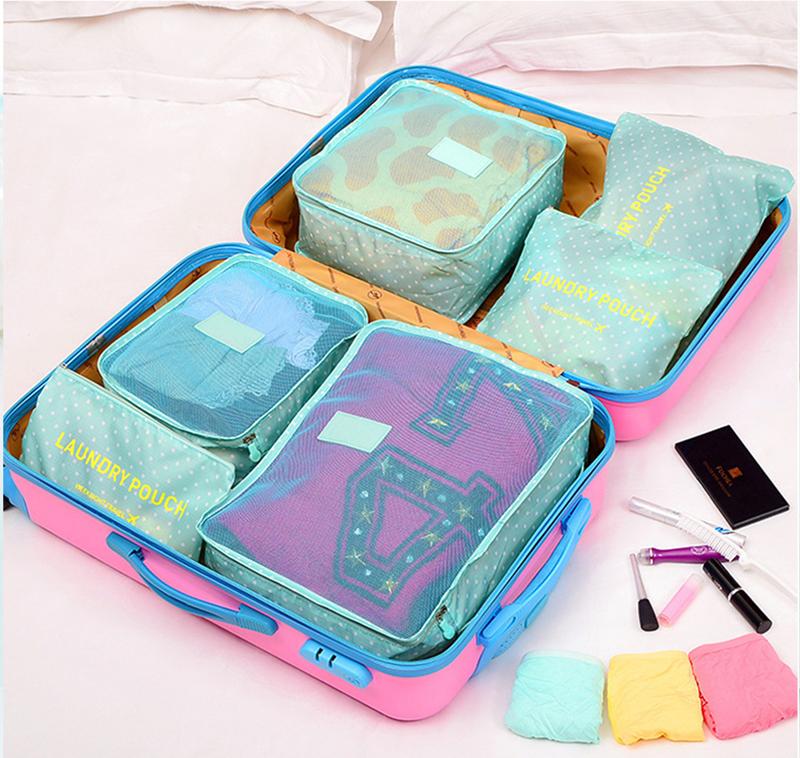 cách xếp đồ bộ 6 túi đựng đồ du lịch