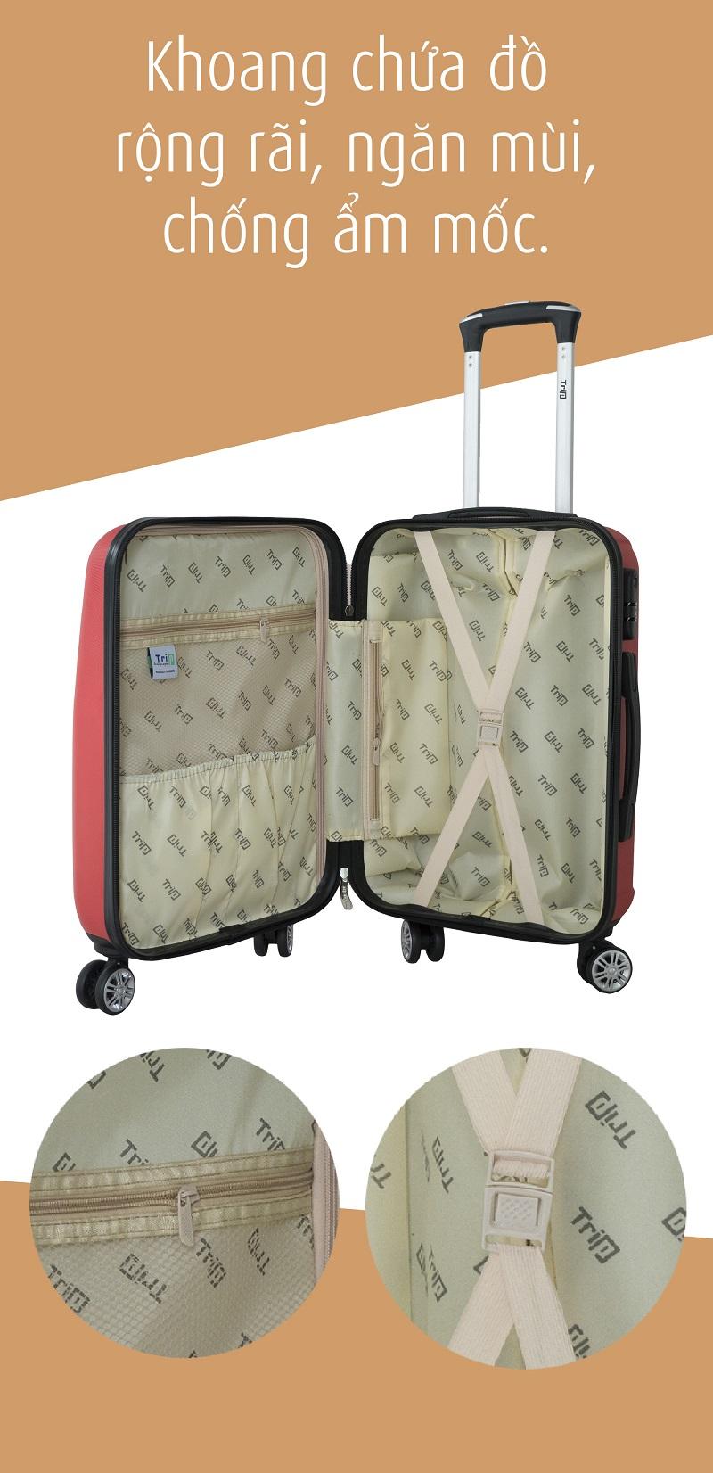 khoang chứa đồ vali trip p16 size 20inch