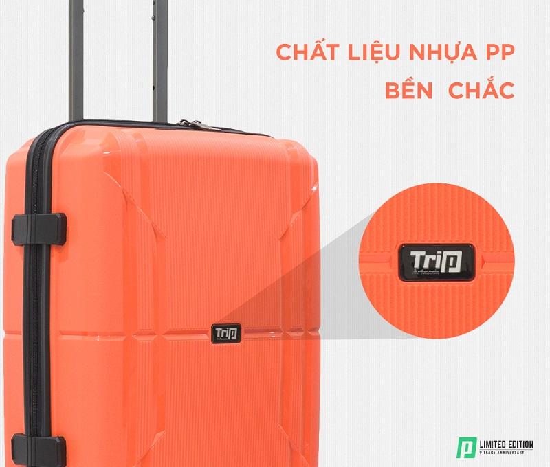 chất liệu nhựa vali trip pp915